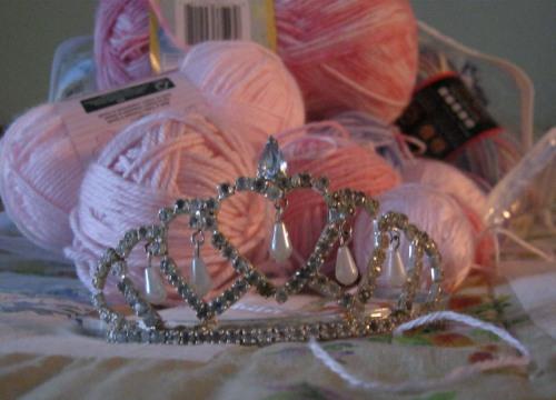 Tiara And Pink Yarn