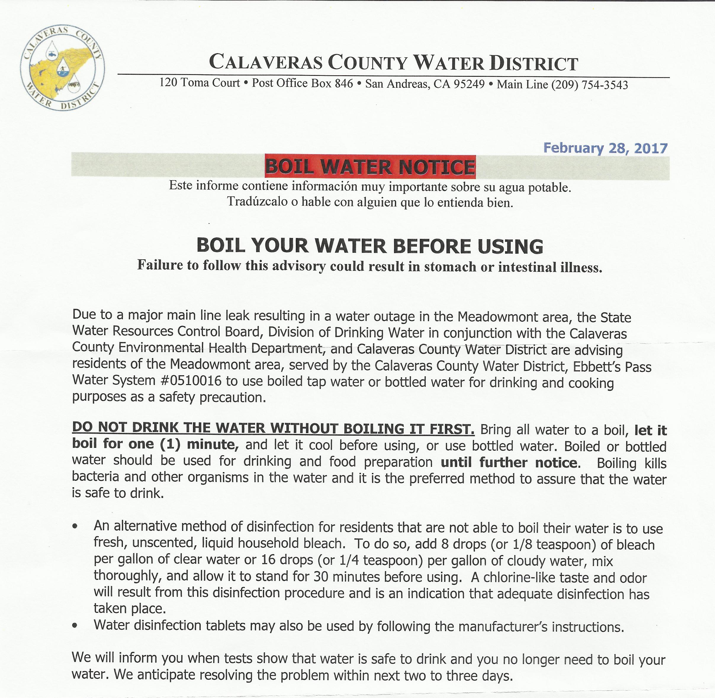 Boil Water Notice Restaurant Coffee Maker